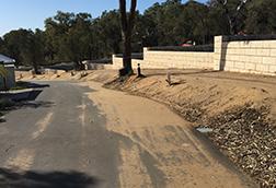 Limestone Retaining Wall Construction
