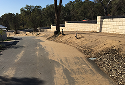 Limestone Retaining Wall Construction